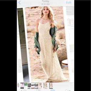 Victoria's Secret Crochet Lace Boho Maxi Dress 2